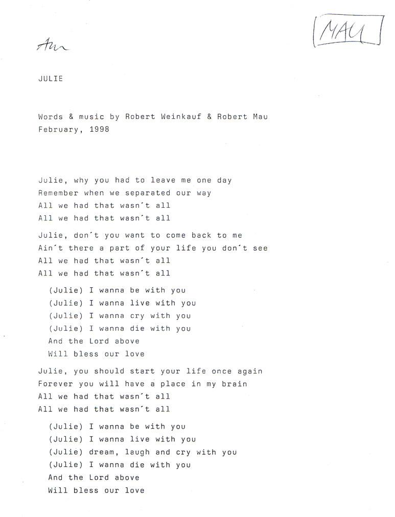 Lyric rain rain go away lyrics : THE BUT - fake sixties unplugged, Kammer-Beat aus Leipzig - Lyrics
